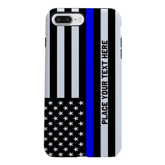 the best attitude 6b221 65742 Thin Blue Line Flag iPhone 7 Plus Tough Case