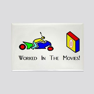 Worked In The Movies Rectangle Magnet (10 pack)