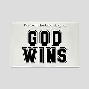 God Wins Rectangle Magnet (10 pack)
