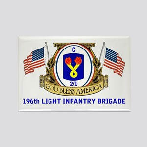 C 2/1 196th INFANTRY Rectangle Magnet (10 pack)
