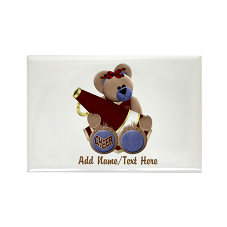 Teddy Chearleader Rectangle Magnet (10 pack)