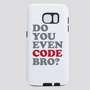 Do You Even Code Bro Samsung Galaxy S7 Case