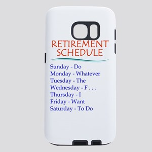 Retirement Schedule Samsung Galaxy S7 Case