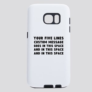 Five Lines Text Customized Samsung Galaxy S7 Case