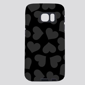 BLACK HEARTS Samsung Galaxy S7 Case