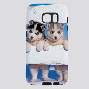 Two Husky puppies Samsung Galaxy S7 Case