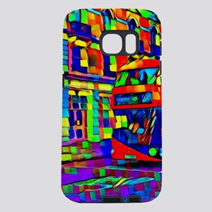 trippy London traffic Samsung Galaxy S7 Case