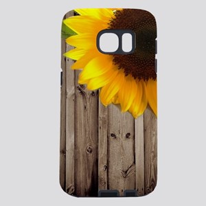 bohemian barn wood sunflow Samsung Galaxy S7 Case
