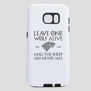 Leave One Wolf Alive Samsung Galaxy S7 Case