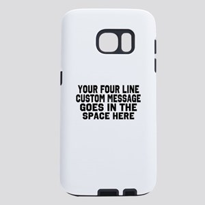 Customize Four Line Text Samsung Galaxy S7 Case