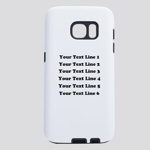 Customize Six Lines Text Samsung Galaxy S7 Case