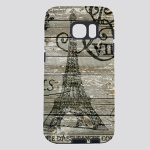 vintage paris eiffel tower Samsung Galaxy S7 Case