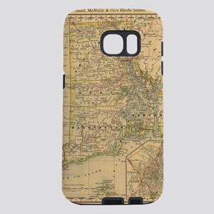 Vintage Map of Rhode Island Samsung Galaxy S7 Case
