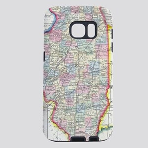 Vintage Map of Illinois (1 Samsung Galaxy S7 Case