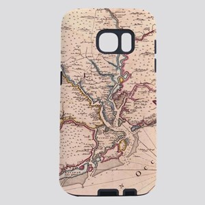 Vintage Map of South Carol Samsung Galaxy S7 Case