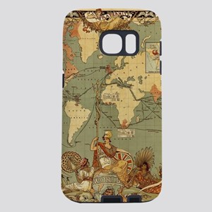 Antique World Map Vintage Samsung Galaxy S7 Case