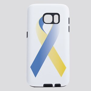 blue_yellow_ribbongr Samsung Galaxy S7 Case