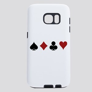 Four Card Suits Samsung Galaxy S7 Case