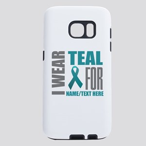 Teal Awareness Ribbon Cust Samsung Galaxy S7 Case