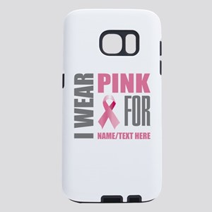 Pink Awareness Ribbon Cust Samsung Galaxy S7 Case