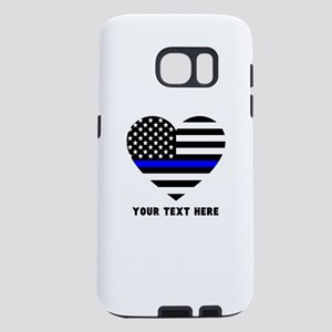 Thin Blue Line Love Samsung Galaxy S7 Case