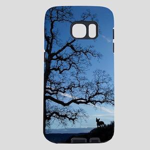 single Boston Terrier at su Samsung Galaxy S7 Case