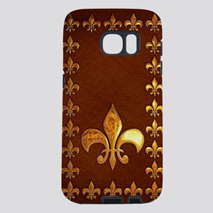 Old Leather with gold Fleur Samsung Galaxy S7 Case