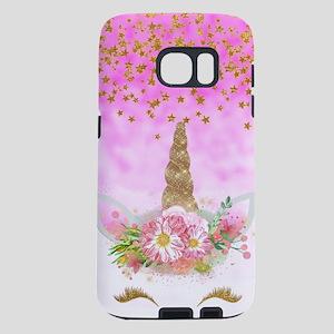 Fantasy Pink Unicorn Samsung Galaxy S7 Case