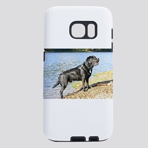 full black lab Samsung Galaxy S7 Case