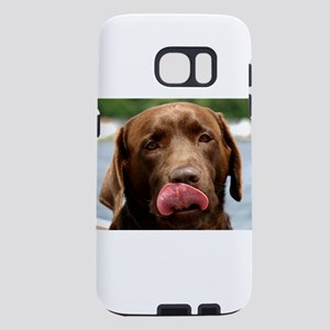 chocolate lab licking Samsung Galaxy S7 Case
