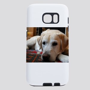 laying 2 yellow lab Samsung Galaxy S7 Case