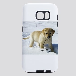 labrador retriever yellow puppy in snow Samsung Ga