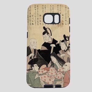 An updated version of the six poets - Toyokuni Uta