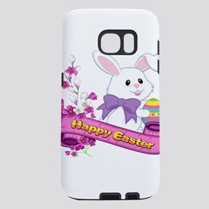 White Easter Bunny Banner Samsung Galaxy S7 Case