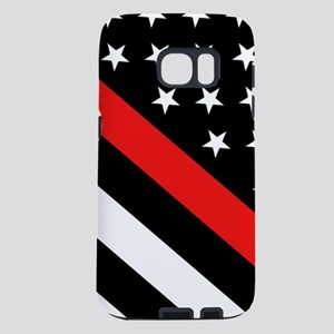 Firefighter Flag: Thin Red Samsung Galaxy S7 Case