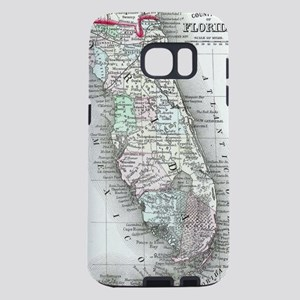 Vintage Map of Florida and Samsung Galaxy S7 Case