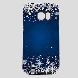 Decorative Blue Winter Chr Samsung Galaxy S7 Case