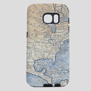 Vintage Map of North Ameri Samsung Galaxy S7 Case