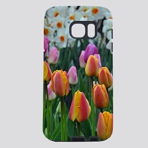 Colorful tulips and daffod Samsung Galaxy S7 Case