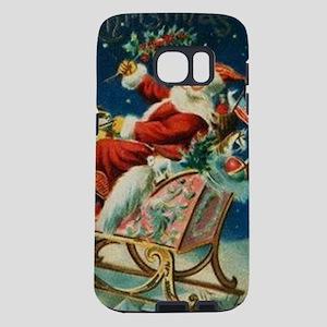 Vintage Santa Claus Sleigh Samsung Galaxy S7 Case