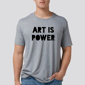Art is Power Mens Tri-blend T-Shirt