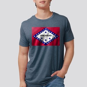 Arkansas State Flag Mens Tri-blend T-Shirt