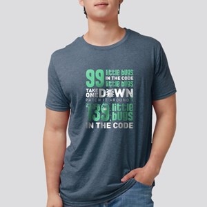 99 Little Bugs In The Code Mens Tri-blend T-Shirt