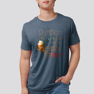 Pumpkin Spice Makes Everyth Mens Tri-blend T-Shirt