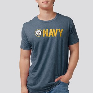 U.S. Navy: Navy Mens Tri-blend T-Shirt