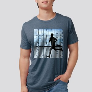 runner Mens Tri-blend T-Shirt
