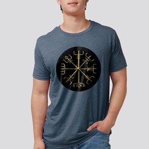 Gold Vegvisir O Mens Tri-blend T-Shirt