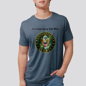 Army Rangers Lead The Way Mens Tri-blend T-Shirt
