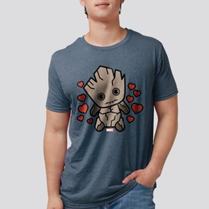 Groot Hearts Mens Tri-blend T-Shirt
