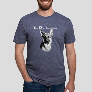 German Shepherd Happy Face dark T-Shirt